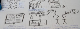 User journey in storyboard form